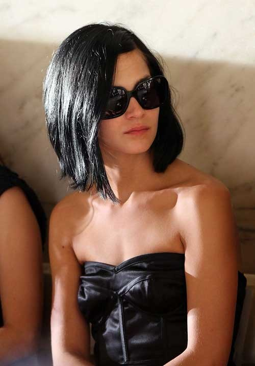 Short-Lenght-A-Line-Black-Bob Short Length Haircuts 2020