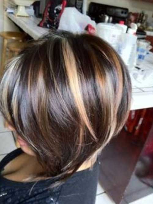 Short-Lenght-Highlighted-Hairstyle Short Length Haircuts 2020