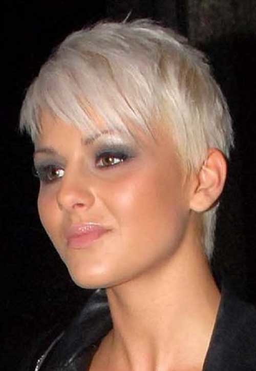 Short-Lenght-Layered-Bleached-Pixie-Hair Short Length Haircuts 2020