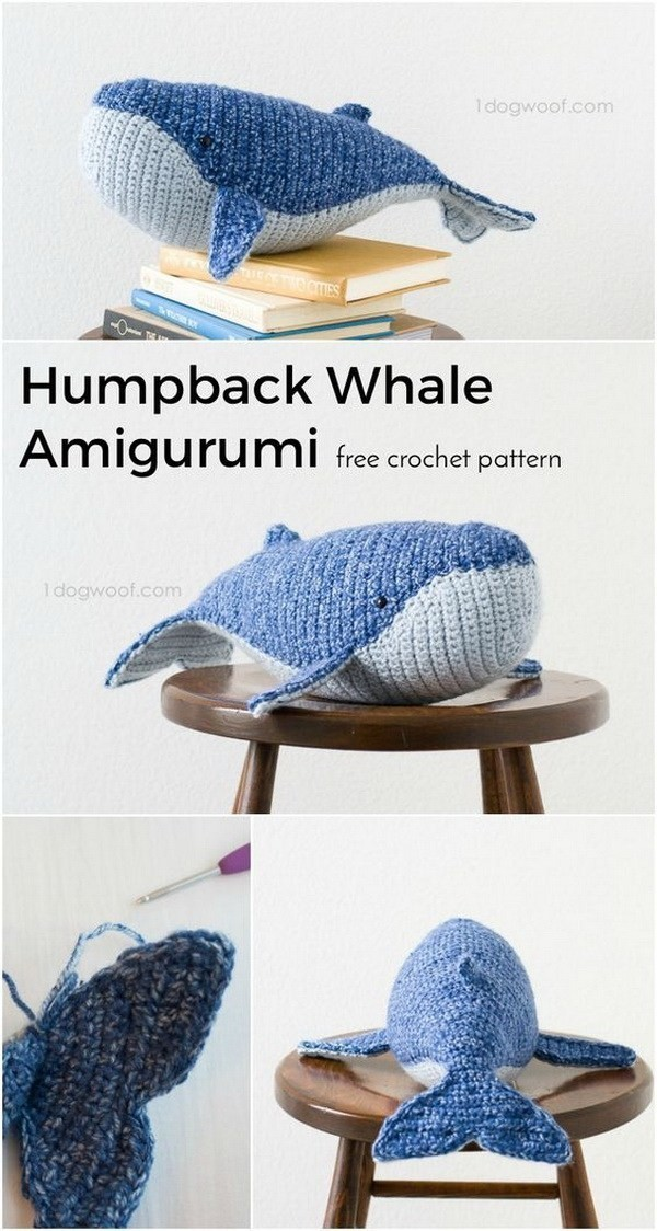 Baby-Humpback-Whale-Crochet-Pattern Easy Crochet Patterns And Projects For Beginners