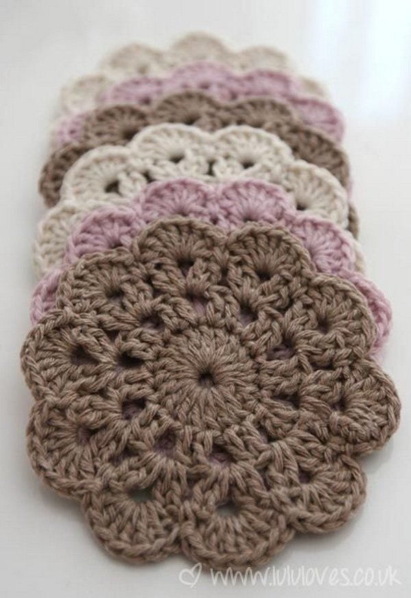 Beautiful-Crochet-Coasters Easy Crochet Patterns And Projects For Beginners