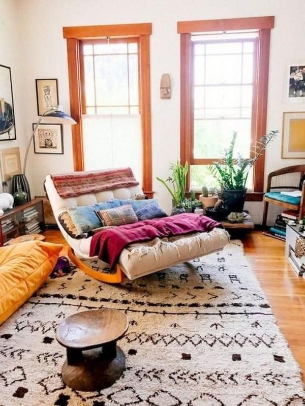 Boho-style-living-room Chic Bohemian Interior Design Ideas