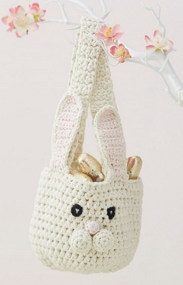 Bunny-Basket-Crochet-Pattern Easy Crochet Patterns And Projects For Beginners