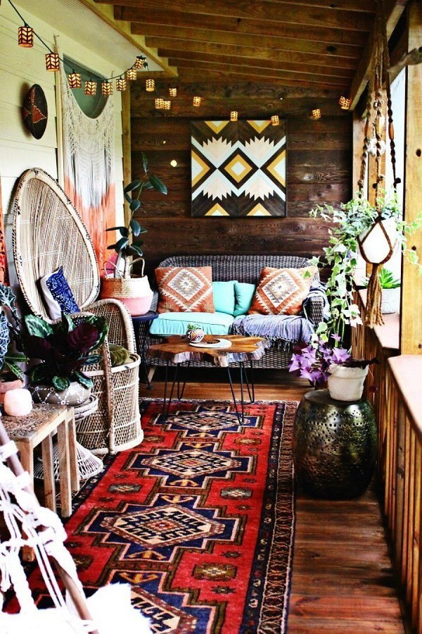 Colorful-bohemian-living-room Chic Bohemian Interior Design Ideas