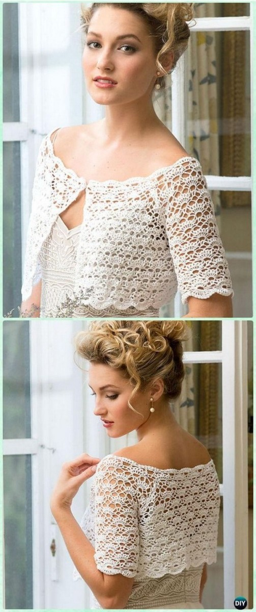 Crochet-Women-Crop-Top Easy Crochet Patterns And Projects For Beginners