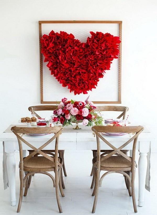 DIY-Valentine's-Day-Heart-Backdrop Sweet DIY Valentine's Day Decoration Ideas