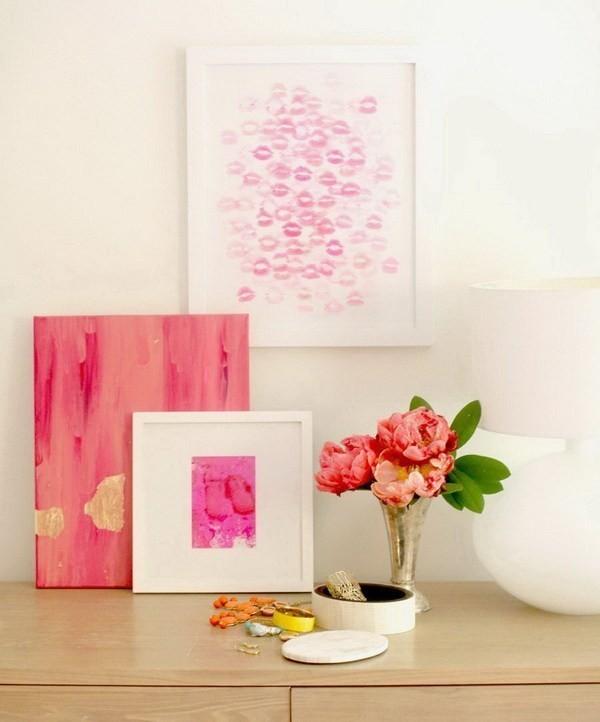 DIY-Valentine's-Day-Kiss-Art Sweet DIY Valentine's Day Decoration Ideas