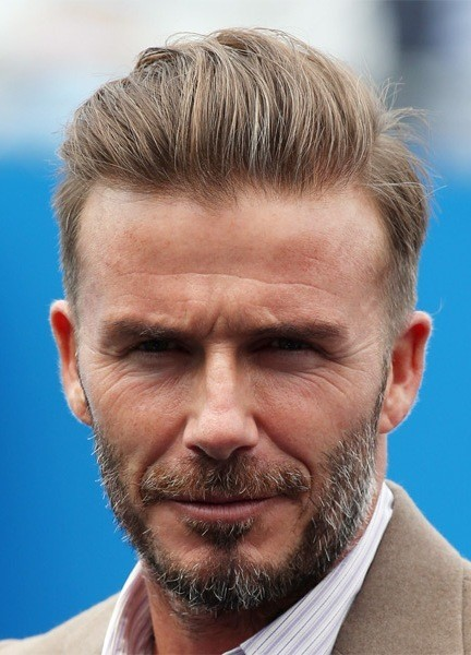 David-Beckham-Short-Straight-Hairstyle Most Coolest And Hottest Formal Haircuts For Men