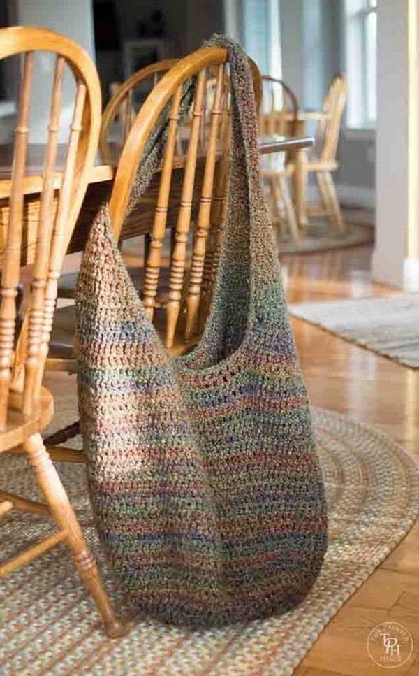 Extra-Large-Crochet-Market-Bag Easy Crochet Patterns And Projects For Beginners