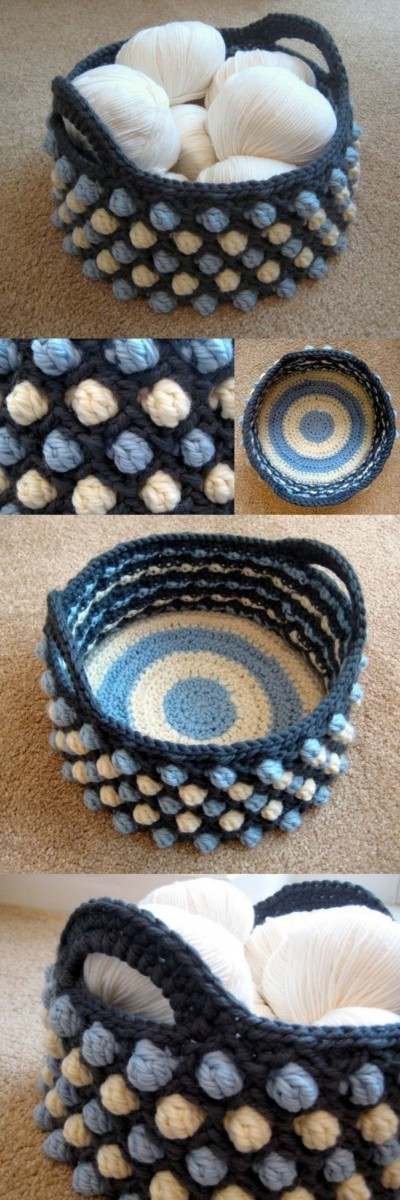 Honeycomb-Pop-Crochet-Basket Easy Crochet Patterns And Projects For Beginners
