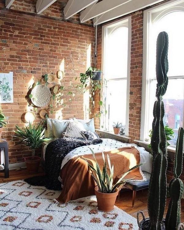 Minimalist-bohemian-bedroom-design Chic Bohemian Interior Design Ideas