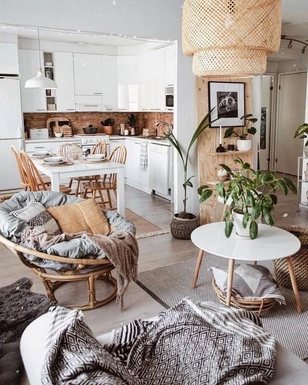 Modern-bohemian-style-kitchen Chic Bohemian Interior Design Ideas