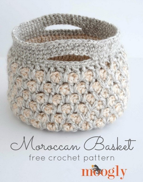 Moroccan-Crochet-Basket Easy Crochet Patterns And Projects For Beginners
