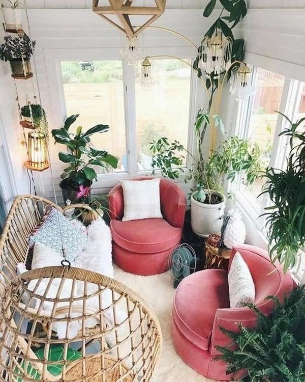 Scandinavian-bohemian-balcony-for-relexing Chic Bohemian Interior Design Ideas