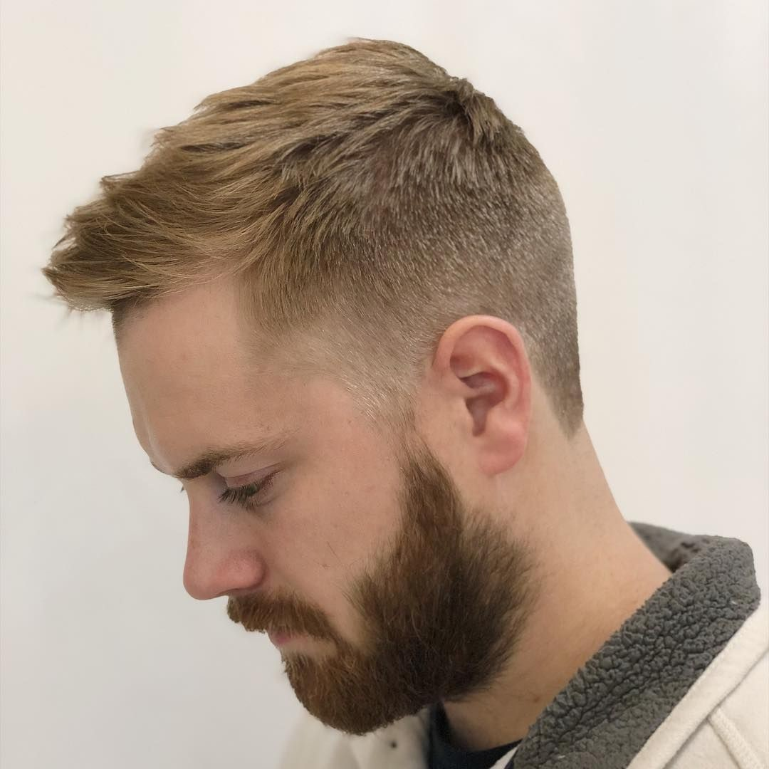 Short-Hair-with-Faded-Undercut-and-Beard Mens Hair Trends – Mens Hairstyles 2020