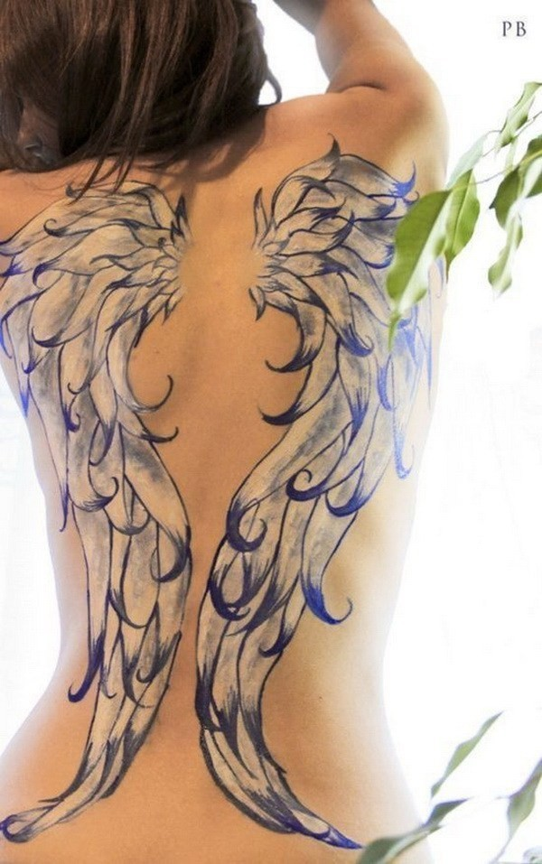 Beautiful-Full-Back-Angel-Wings-Tattoo 60 Awesome Back Tattoo Ideas