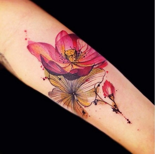 Cool-Lotus-Tattoo-Design Pretty Flower Tattoo Ideas