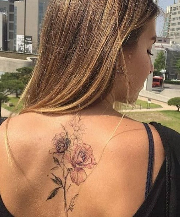 Floral-Back-Piece Pretty Flower Tattoo Ideas