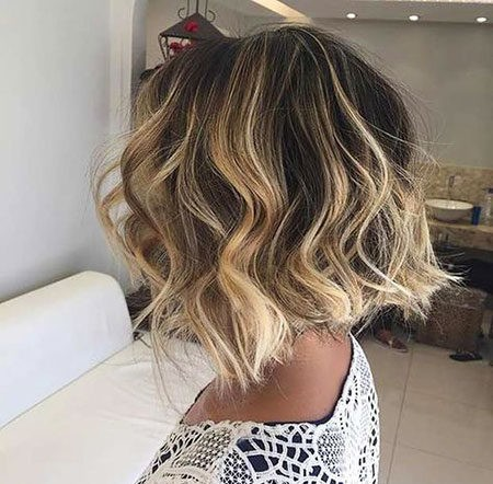 Hair-Color-Ideas-for-Short-Hair-008-ohfree.net_ Popular Balayage Hair Color Ideas for Short Hair