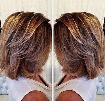 Hair-Color-Ideas-for-Short-Hair-011-ohfree.net_ Popular Balayage Hair Color Ideas for Short Hair