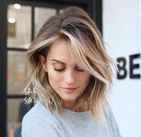 Hair-Color-Ideas-for-Short-Hair-022-ohfree.net_ Popular Balayage Hair Color Ideas for Short Hair