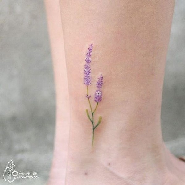 Lavender-Flower-Tattoo Pretty Flower Tattoo Ideas