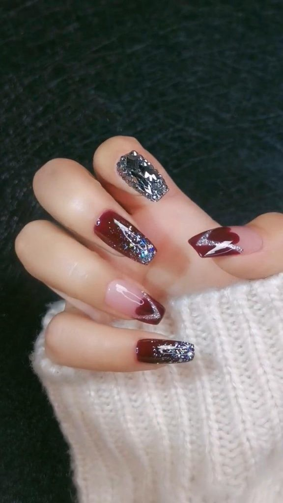 Rhinestone-Nail-Art-Ideas-5 2020 Nail Trends to Inspire Your Next Manicure #1 -  DIY Nails Compilation