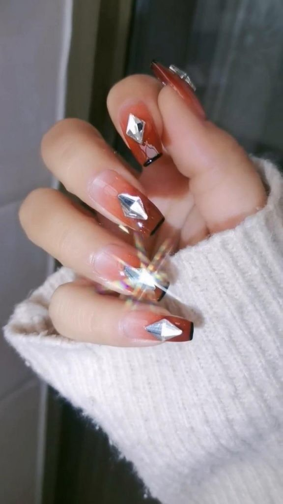 Rhinestone-Nail-Art-Ideas-8 2020 Nail Trends to Inspire Your Next Manicure #1 -  DIY Nails Compilation
