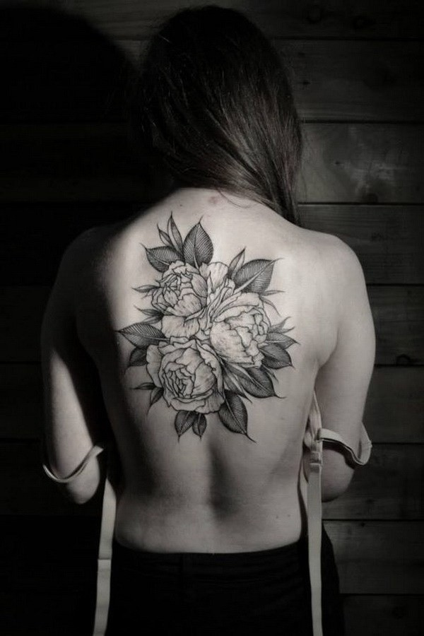 Roses-Tattoo-On-Back 60 Awesome Back Tattoo Ideas