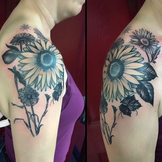 Sunflower-Tattoo Amazing Sunflower Tattoo Ideas