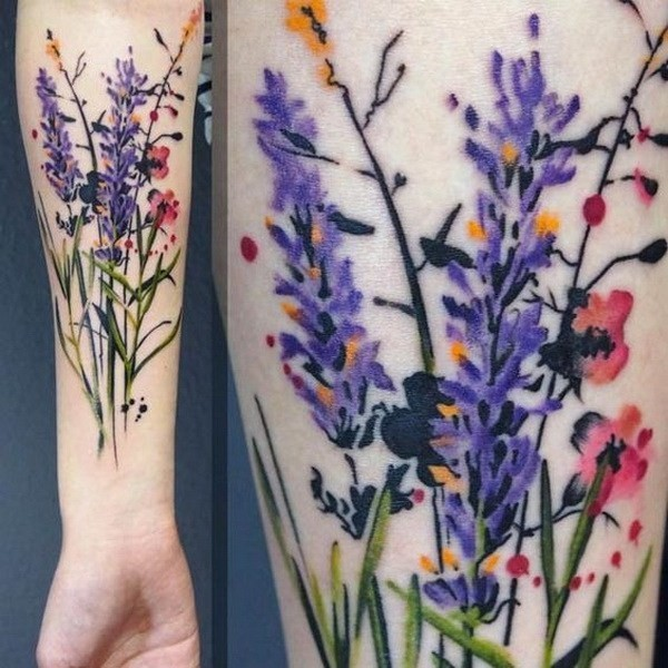 Wild-Flowers-Tattoo-Design Pretty Flower Tattoo Ideas