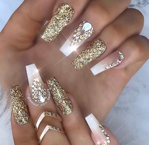 bridal-nails-wedding-nails-1 Wedding Nails French Rhinestones Gems They Are Totally Popular Right Now