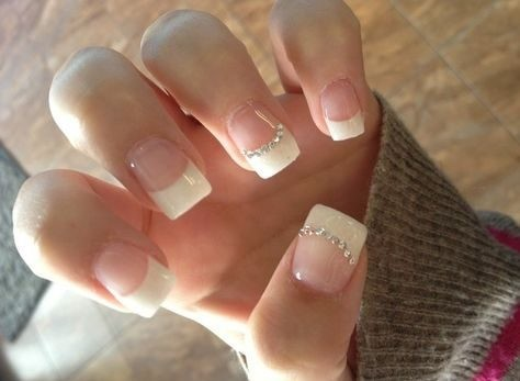 bridal-nails-wedding-nails-2 Wedding Nails French Rhinestones Gems They Are Totally Popular Right Now
