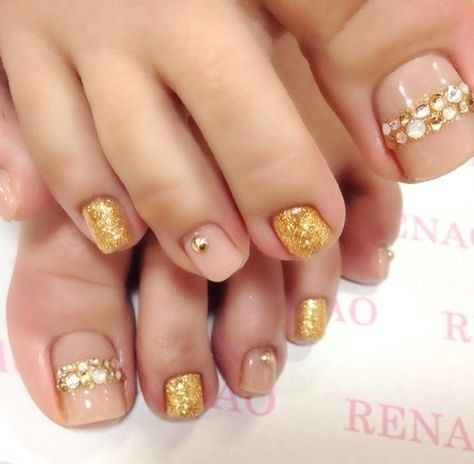 bride-nails-wedding-nails Wedding Nails French Rhinestones Gems They Are Totally Popular Right Now