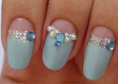 cinderella-nails-cinderella-carriage Wedding Nails French Rhinestones Gems They Are Totally Popular Right Now