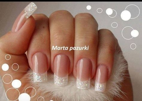 hollywood-wedding-vintage-hollywood Wedding Nails French Rhinestones Gems They Are Totally Popular Right Now