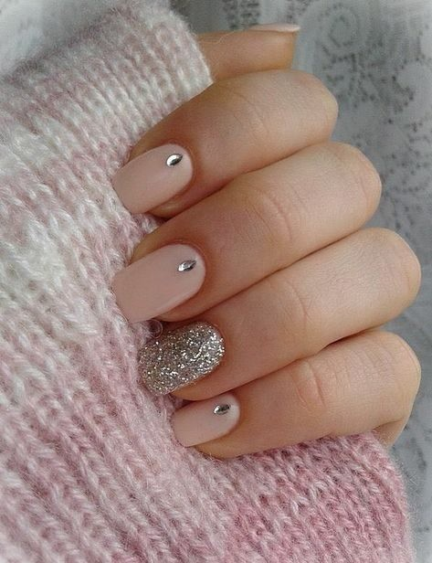pink-nail-art-nude-nail-art Wedding Nails French Rhinestones Gems They Are Totally Popular Right Now