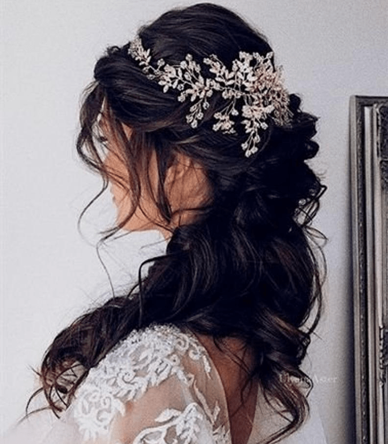 Bridal-Hair-Ideas-To-Look-Fabulous-029-ohfree.net_ Bridal Hair Ideas To Look Fabulous On Your Wedding Day