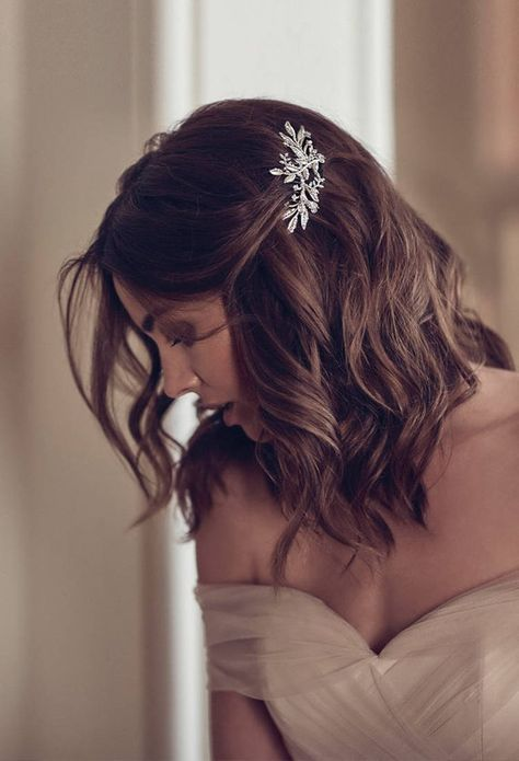 Bridal-Hair-Ideas-To-Look-Fabulous-036-ohfree.net_ Bridal Hair Ideas To Look Fabulous On Your Wedding Day