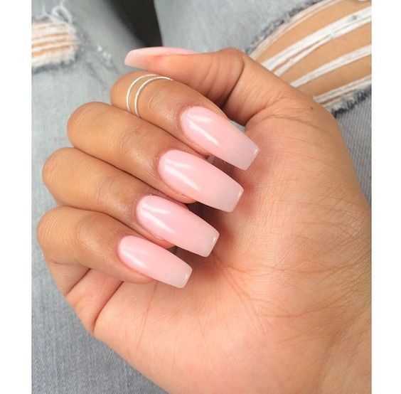 Perfect-long-square-nail-with-pale-pink-colors Perfect Ideas for Pink Nails to Finish Feminine Look
