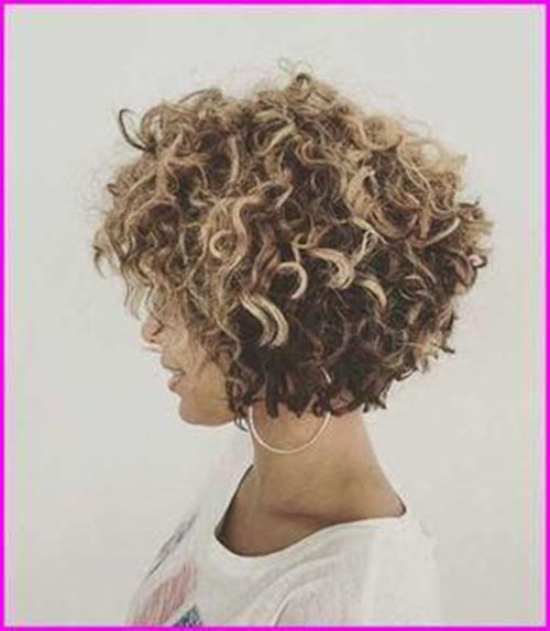 Short-Curly-Hairstyle-for-Round-Faces-15 20 Amazing Short Curly Hairstyle for Round Faces