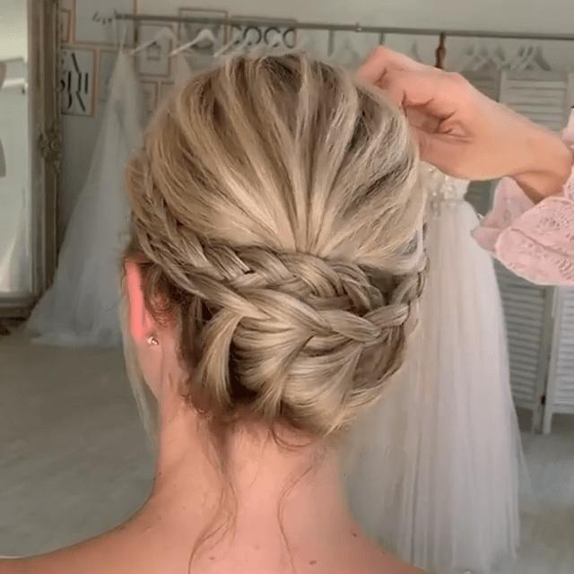 Simple-Bridal-Updo-Hairstyles-Tutorial-2020 Simple Bridal Updo Hairstyles Tutorial 2020