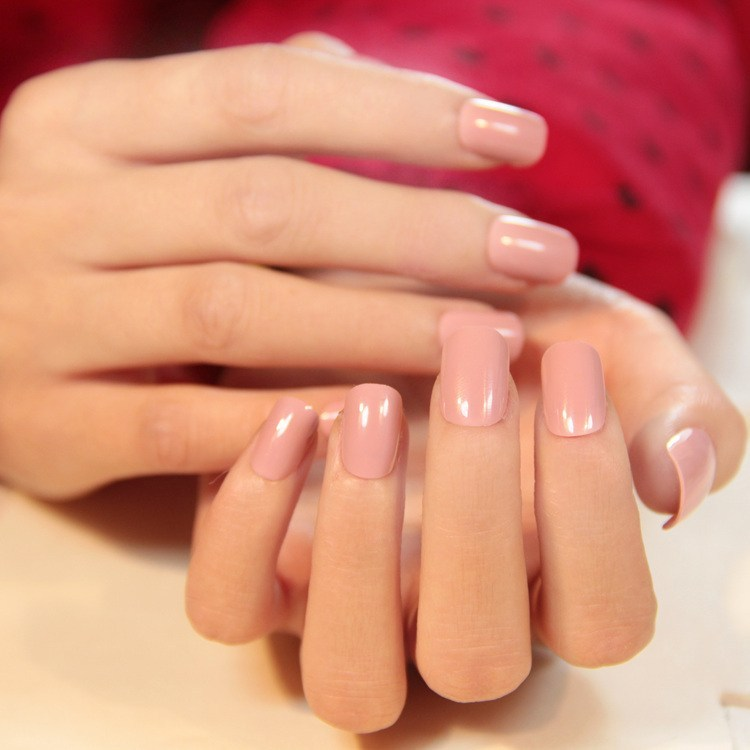 Simple-pink-nail-colors-for-square-nails Perfect Ideas for Pink Nails to Finish Feminine Look