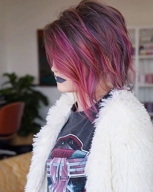Unique-Colored-Hair Trendy Short Haircuts That You'll Love This Season