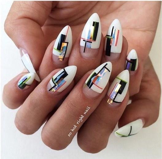 28-abstract-nail-art-ideas Cool Abstract Nail Art Ideas
