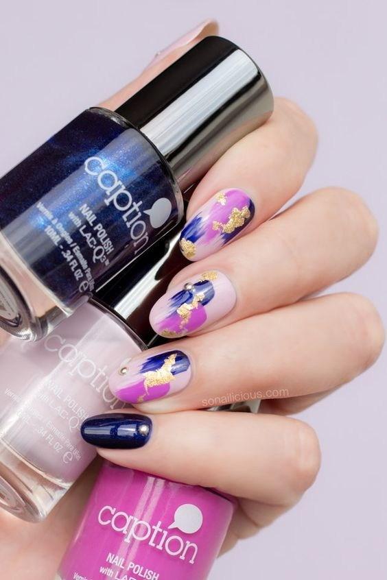 36-abstract-nail-art-ideas Cool Abstract Nail Art Ideas