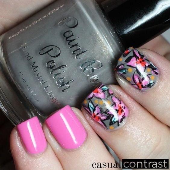 40-abstract-nail-art-ideas Cool Abstract Nail Art Ideas