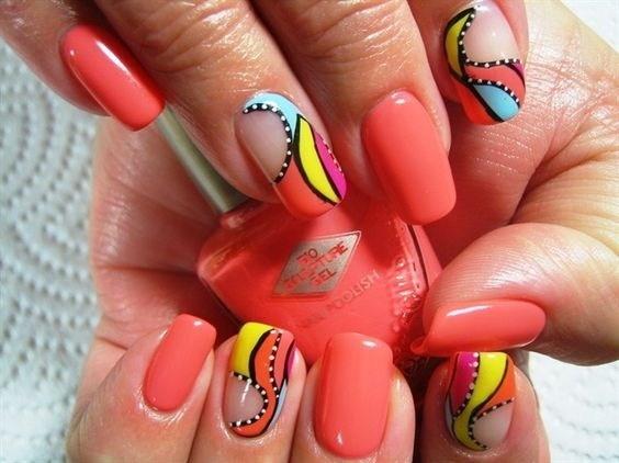 41-abstract-nail-art-ideas Cool Abstract Nail Art Ideas