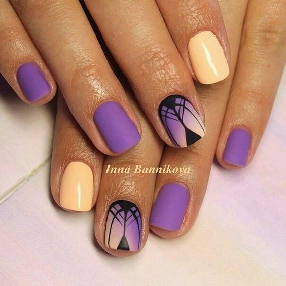 42-abstract-nail-art-ideas Cool Abstract Nail Art Ideas