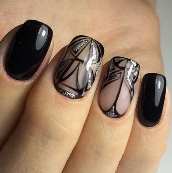 47-abstract-nail-art-ideas Cool Abstract Nail Art Ideas